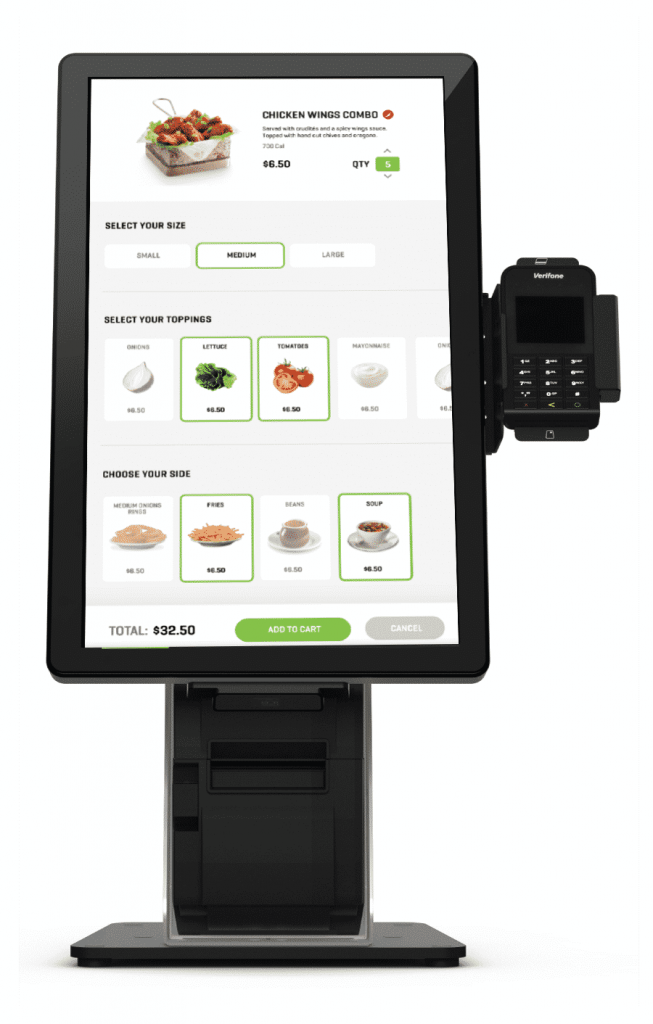 Grubbrr On Standing Kiosk Combo Touchsuite Point Of