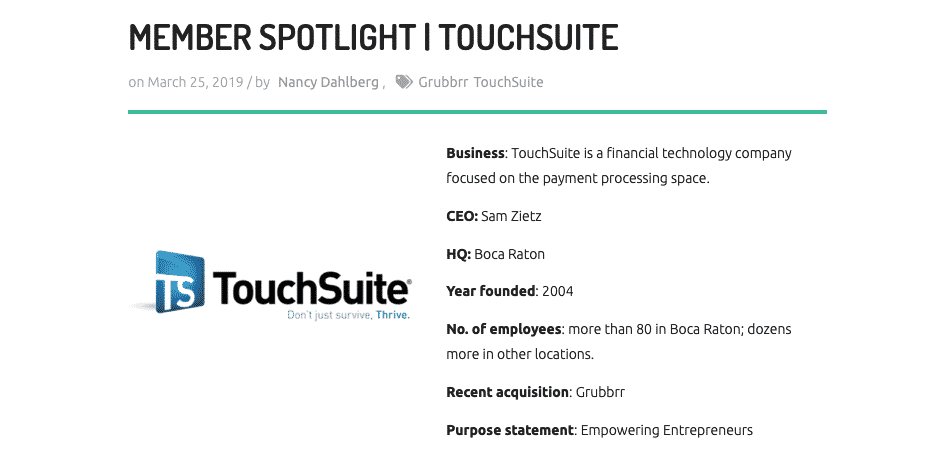 Palm Beach Tech Member Spotlight Touchsuite