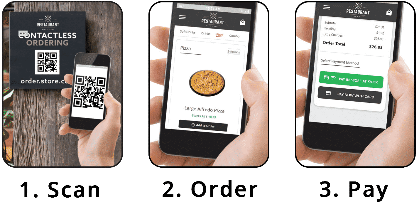 contactless ordering steps1